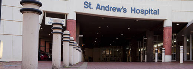 Exterior of St Andrews Hospital in Adelaide